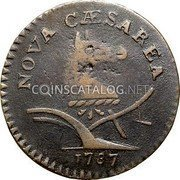 USA New Jersey Copper 1787 KM# 15 New Jersey Coppers NOVA CAESAREA coin obverse