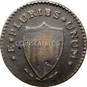 USA New Jersey Copper 1787 KM# 15 New Jersey Coppers * E * PLURIBS * UNUM * coin reverse