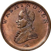 USA One Cent 1783 KM# Tn40 Washington Pieces WASHINGTON coin obverse
