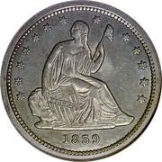 USA Quar. Dol. Seated Liberty 1839 KM# 64.1 LIBERTY coin obverse