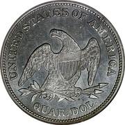 USA Quar. Dol. Seated Liberty 1839 KM# 64.1 UNITED STATES OF AMERICA QUAR. DOL. coin reverse