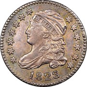 USA 10 C. Liberty Cap Dime 1823/22 small E's KM# 42 LIBERTY coin obverse
