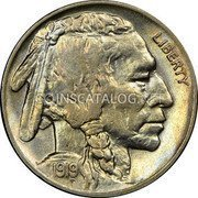 USA 5 Cents Buffalo Nickel 1919 S KM# 134 LIBERTY coin obverse
