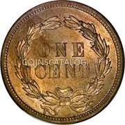 USA Cent Indian Head Cent 1859 KM# 87 ONE CENT coin reverse