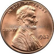 USA Cent Lincoln Cent 1982 KM# 201a IN GOD WE TRUST LIBERTY coin obverse