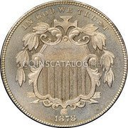 USA Five Cents Shield Nickel 1878 proof KM# 97 IN GOD WE TRUST coin obverse