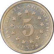 USA Five Cents Shield Nickel 1878 proof KM# 97 UNITED STATES OF AMERICA 5 CENTS coin reverse