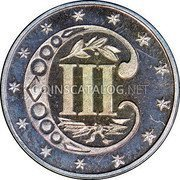USA Three Cents Silver 3 Cents - Type 3 1867 KM# 88 III coin reverse