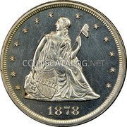 USA Twenty Cents Seated Liberty 1878 proof only KM# 109 LIBERTY coin obverse