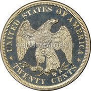 USA Twenty Cents Seated Liberty 1878 proof only KM# 109 UNITED STATES OF AMERICA TWENTY CENTS coin reverse