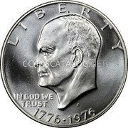 USA Dollar Eisenhower Bicentennial Dollar 1976 KM# 206a LIBERTY IN GOD WE TRUST coin obverse