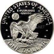 USA One Dollar Eisenhower Dollar 1974 S Proof KM# 203a UNITED STATES OF AMERICA ONE DOLLAR E PLURIBUS UNUM coin reverse