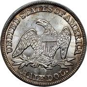USA Half Dol. Seated Liberty 1846 medium date KM# 68 UNITED STATES OF AMERICA HALF DOL. coin reverse