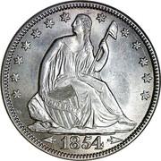 USA Half Dol. Seated Liberty 1854 KM# 82 LIBERTY coin obverse