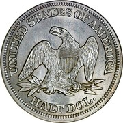 USA Half Dol. Seated Liberty 1854 KM# 82 UNITED STATES OF AMERICA HALF DOL. coin reverse