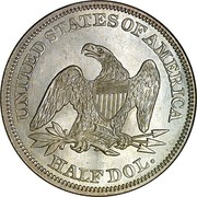 USA Half Dol. Seated Liberty 1860 KM# A68 UNITED STATES OF AMERICA HALF DOL. coin reverse