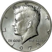 USA Half Dollar Kennedy 1973 KM# 202b LIBERTY IN GOD WE TRUST coin obverse