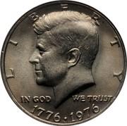 USA Half Dollar Kennedy Bicentennial 1976 KM# 205 LIBERTY IN GOD WE TRUST 1776 1976 coin obverse