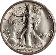 USA Half Dollar Walking Liberty 1935 D KM# 142 LIBERTY IN GOD WE TRUST coin obverse
