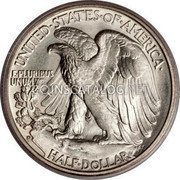 USA Half Dollar Walking Liberty Half Dollar 1935 D KM# 142 UNITED • STATES • OF • AMERICA HALF DOLLAR E PLURIBUS UNUM coin reverse