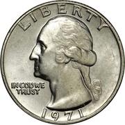 USA Quarter Washington 1971 KM# 164a LIBERTY IN GOD WE TRUST coin obverse