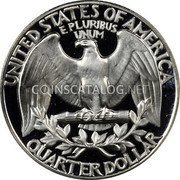 USA Quarter Washington Quarter 1964 KM# 164 UNITED STATES OF AMERICA QUARTER DOLLAR E PLURIBUS UNUM coin reverse