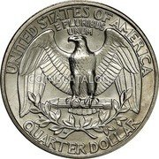 USA Quarter Washington Quarter 1977-98 KM# A164a UNITED STATES OF AMERICA QUARTER DOLLAR E PLURIBUS UNUM coin reverse