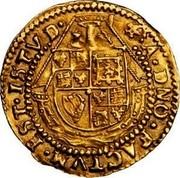 UK 1/2 Angel James I (1604-1619) KM# 43 ∙A∙DNO∙FACTVM∙EST∙ISTVD∙ coin reverse