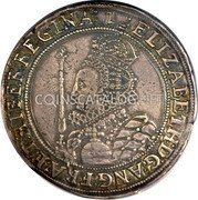 UK 1/2 Crown (1601) KM# 6 Pre-Decimal coinage coin obverse