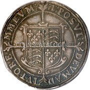 UK 1/2 Crown (1601) KM# 6 Pre-Decimal coinage coin reverse
