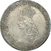 UK 1/2 Crown (1660-1685) KM# 408 British Hammered Coins CAR ... G MAG BR T FRAN ET HIB REX coin obverse
