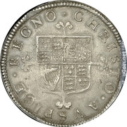 UK 1/2 Crown (1660-1685) KM# 408 British Hammered Coins CHRISTO AVSPICE REGNO coin reverse