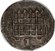 UK 1/2 Penny Elizabeth I 1601 Sixth Coinage (1601-02). KM# 1 - coin obverse
