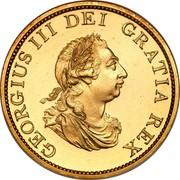 UK 1/2 Penny George III 1799 Proof KM# 647a GEORGIUS III DEI GRATIA REX coin obverse
