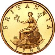 UK 1/2 Penny George III 1799 Proof KM# 647a BRITANNIA SOHO coin reverse