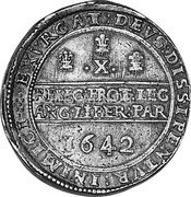 UK 1/2 Pound 1642 KM# 235.4 Pre-Decimal coinage coin reverse