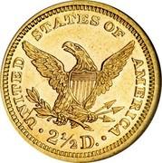 USA 2 ½ D. Coronet Head - Quarter Eagle 1870 KM# 72 ∙ UNITED STATES OF AMERICA ∙ 2 ½ D. ∙ coin reverse