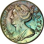 UK 2 Pence Anne 1710 KM# 513 ANNA DEI - GRATIA coin obverse
