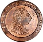 UK 2 Pence George III Cartwheel 1797 KM# 619 GEORGIUS III ∙ D : G ∙ REX ∙ coin obverse