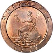 UK 2 Pence George III Cartwheel 1797 KM# 619 BRITANNIA. 1797 coin reverse