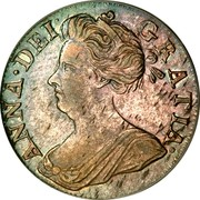 UK 4 Pence Groat 1710 KM# 515 ANNA ∙ DEI ∙ - GRATIA ∙ coin obverse