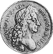 UK 5 Guineas (Charles II) KM# 444.2 CAROLVS∙II∙ DEI∙GRATIA coin obverse