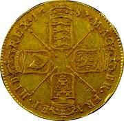 UK 5 Guineas James II 1687 KM# 460.2 MAG∙ BR∙FRA∙ ET∙HIB∙ REX∙*YEAR*∙ coin reverse