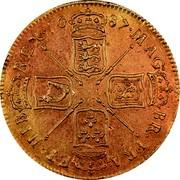 UK 5 Guineas James II 1687 KM# 460.1 MAG∙ BR∙FRA∙ ET∙HIB∙ REX∙*YEAR*∙ coin reverse