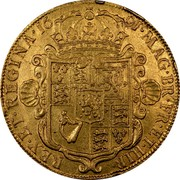 UK 5 Guineas William and Mary 1691 KM# 479.2 MAG∙BR∙FR∙ET∙HIB∙REX∙ET∙REGINA∙*YEAR*∙ coin reverse