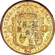 UK 5 Guineas William and Mary 1692 KM# 479.1 MAG∙BR∙FR∙ET∙HIB∙REX∙ET∙REGINA∙*YEAR*∙ coin reverse