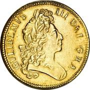 UK 5 Guineas William III 1699 KM# 505.1 GVLIELMVS III DEI GRA coin obverse