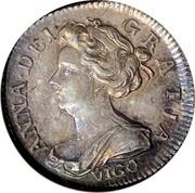 UK 6 Pence Anne VIGO 1703 KM# 516.1 ANNA∙DEI∙ GRATIA∙ VIGO∙ coin obverse