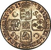 UK 6 Pence George I 1723 KM# 553.2 BRVN ET∙L∙DUX S∙R∙I∙A TH ET∙EL∙ C SS C SS coin reverse