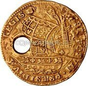 UK Angel (1625-1642) KM# 149.3 Angel Coins coin reverse
